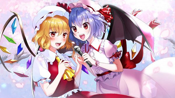 Tags: Anime, Pixiv Id 3152104, Touhou, Flandre Scarlet, Remilia Scarlet, Fanart From Pixiv, Pixiv, Fanart, 4K Ultra HD Wallpaper, HD Wallpaper, Wallpaper, RemiFlan