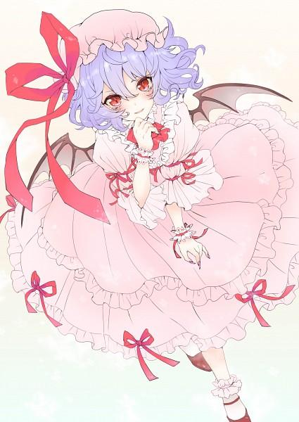 Tags: Anime, Yutsumoe, Touhou, Remilia Scarlet, Mobile Wallpaper, Fanart, Pixiv