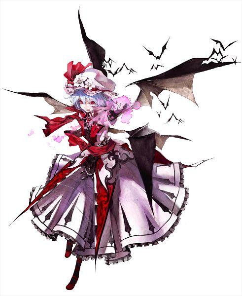 Tags: Anime, Banpai Akira, ZUN, Frontier Aja, Koumajou Densetsu, Touhou, Remilia Scarlet, Lace Trim, Official Art