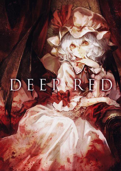 Tags: Anime, Banpai Akira, DEEP RED, Touhou, Remilia Scarlet, Scan, Mobile Wallpaper