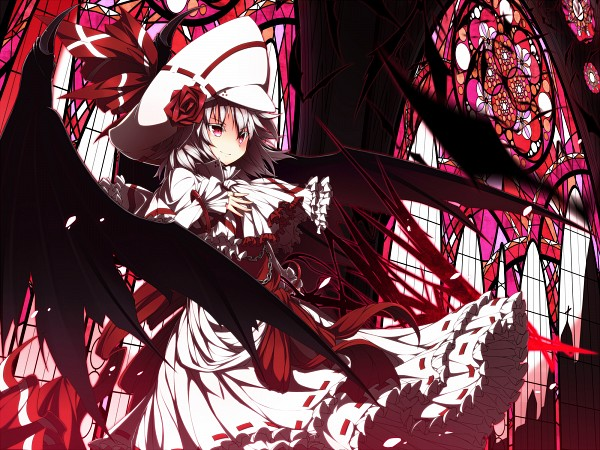 Tags: Anime, UGUME, Touhou, Remilia Scarlet, Stained Glass, Fanart From Pixiv, Fanart, Pixiv