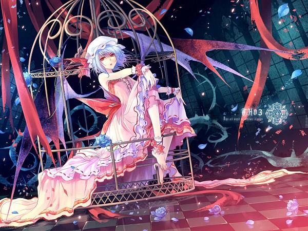 Tags: Anime, Kieta, Touhou, Remilia Scarlet, Brambles, Corsage (Flower Bouquet), Fanart, Pixiv, Fanart From Pixiv