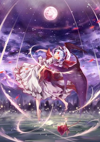 Tags: Anime, torino, Touhou, Remilia Scarlet, PNG Conversion, Pixiv, Mobile Wallpaper, Fanart