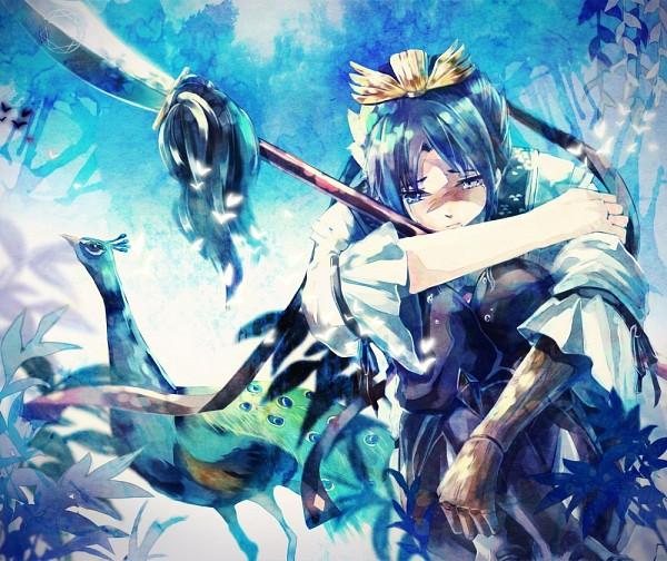 Tags: Anime, Gigatera, MAGI: The Labyrinth of Magic, Ren Hakuryuu, Peacock, Pixiv