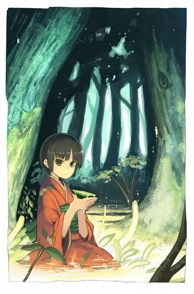 Tags: Anime, Pixiv Id 203832, Mushishi, Renzu Ioroi, Fanart, Pixiv