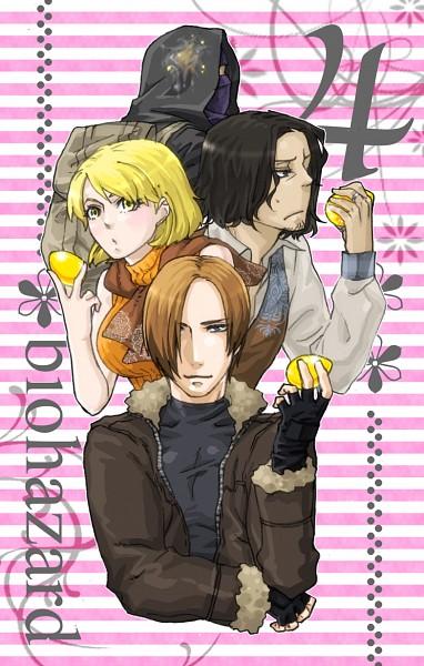 Tags: Anime, Pixiv Id 742392, Resident Evil 4, Resident Evil, Ashley Graham, Leon Scott Kennedy, Merchant (Biohazard), Luis Sera, Pixiv