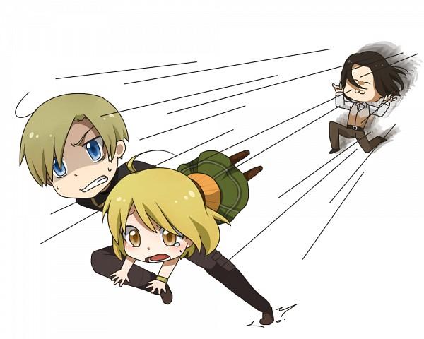 Tags: Anime, Resident Evil 4, Resident Evil, Leon Scott Kennedy, Luis Sera, Ashley Graham, Artist Request