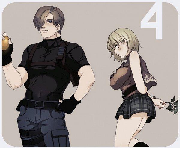 Tags: Anime, Pixiv Id 4271417, Resident Evil 4, Resident Evil, Ashley Graham, Leon Scott Kennedy, Pixiv