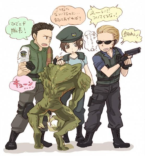 Tags: Anime, Pixiv Id 200127, Resident Evil, Chris Redfield, Hunter (Biohazard), Jill Valentine, Albert Wesker, Pixiv, S.T.A.R.S, Biohazard