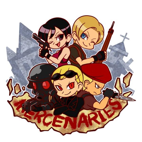 Tags: Anime, Pixiv Id 2362145, Resident Evil, Leon Scott Kennedy, Hunk, Jack Krauser, Albert Wesker, Ada Wong, Pixiv, Biohazard
