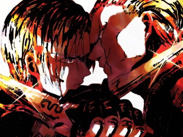 Tags: Anime, Pixiv Id 4360281, Resident Evil, Jack Krauser, Leon Scott Kennedy, Pixiv, Biohazard