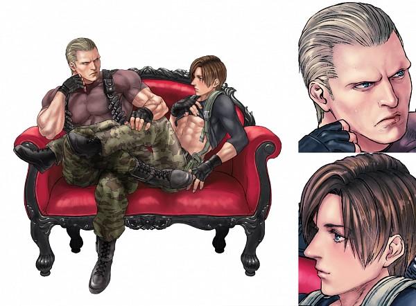 Tags: Anime, Katou Teppei, Resident Evil, Jack Krauser, Leon Scott Kennedy, Pixiv, Biohazard