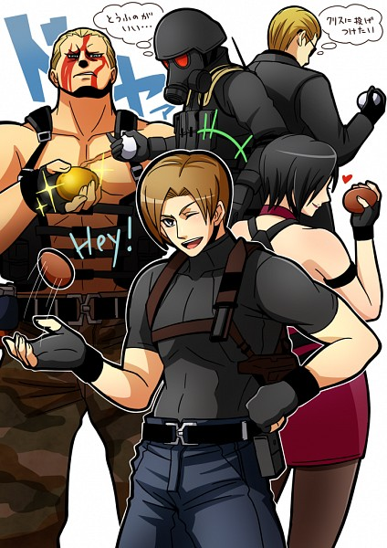 Tags: Anime, Pixiv Id 2362145, Resident Evil, Resident Evil 4, Albert Wesker, Ada Wong, Hunk, Leon Scott Kennedy, Jack Krauser, Fanart, Fanart From Pixiv, Pixiv, Biohazard