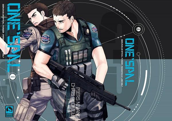 Tags: Anime, Ypyp, Resident Evil, Chris Redfield, Piers Nivans, Pixiv, Biohazard