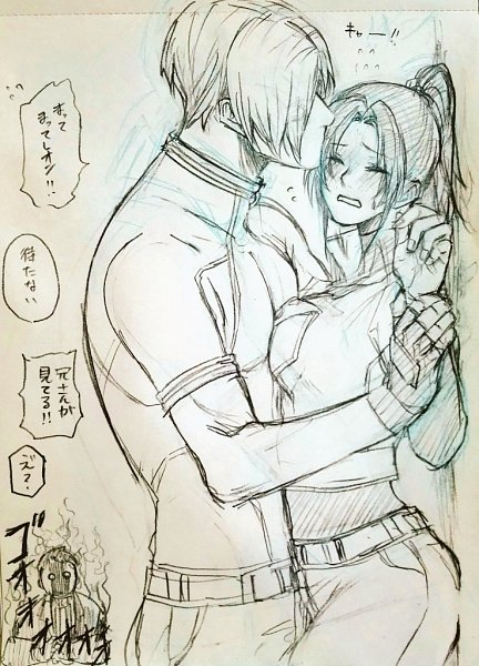 Tags: Anime, Pixiv Id 11133771, Resident Evil, Resident Evil 4, Resident Evil 2, Chris Redfield, Leon Scott Kennedy, Claire Redfield, Holding Wrist, Fanart From Pixiv, Traditional Media, Pixiv, Fanart, Biohazard