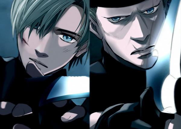 Tags: Anime, Pixiv Id 1472216, Resident Evil, Jack Krauser, Leon Scott Kennedy, Pixiv, Biohazard