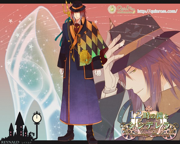 Tags: Anime, QuinRose, 12 Ji no Kane no Cinderella ~Halloween Wedding~, Reynald, Wallpaper, Official Art, Official Wallpaper