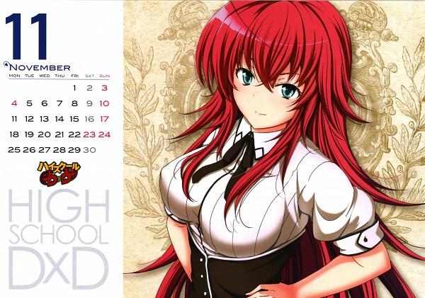 Tags: Anime, Mishima Hiroji, Highschool DxD, Highschool DxD Calendar 2013, Rias Gremory, Official Art, Calendar 2013, Scan, Calendar (Source)