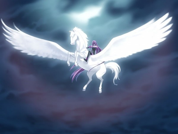 Tags: Anime, Takeuchi Takashi, TYPE-MOON, Fate/stay night, Rider (Fate/stay night), Pegasus, CG Art