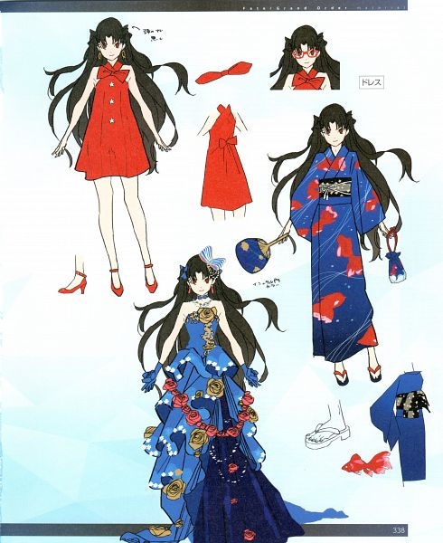 Tags: Anime, Morii Shizuki, DELiGHTWORKS, Fate/Grand Order material V, Fate/Grand Order, Tohsaka Rin, Rider (Ishtar), Archer (Ishtar), Official Art, Scan