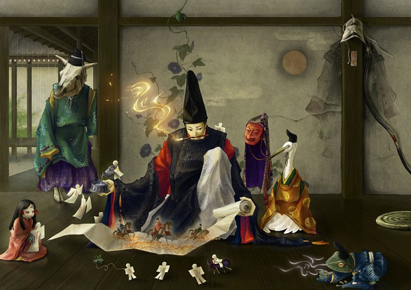 Tags: Anime, Rien Sonidori, Crane, Morning Glory, Original, Pixiv