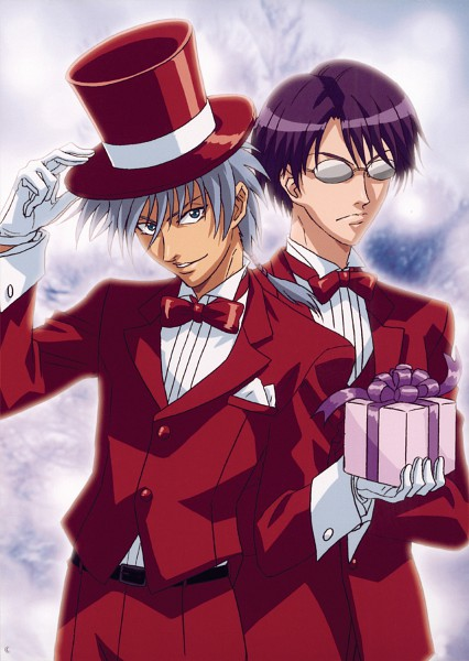 Tags: Anime, Tennis no Ouji-sama, Niou Masaharu, Yagyuu Hiroshi, Magician (Entertainer), Official Art, Rikkaidai