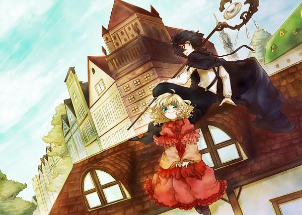 Tags: Anime, Rikonyan, Village, Original