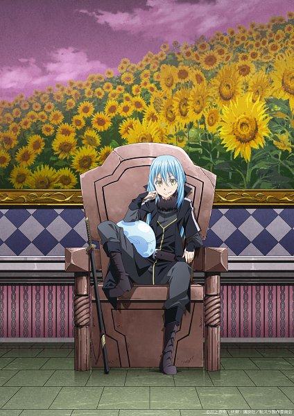 Tags: Anime, Ebata Ryouma, 8-bit (Studio), Tensei Shitara Slime Datta Ken, Rimuru Tempest, Throne, Key Visual, Official Art