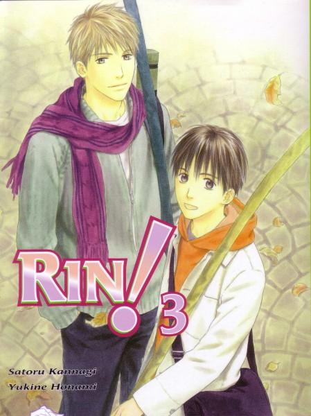 Tags: Anime, Honami Yukine, Rin!, Sou Shibata, Sakurasawa Katsura, Manga Cover, Scan, Official Art, Self Scanned