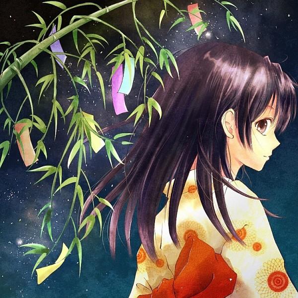 Tags: Anime, Kin'Iro Nyanko, InuYasha, Rin (InuYasha), Tanabata, Fanart, Pixiv