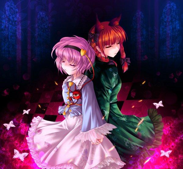 Tags: Anime, Cetera, Touhou, Komeiji Satori, Kaenbyou Rin, Fanart From Pixiv, Fanart, Pixiv, RinSato