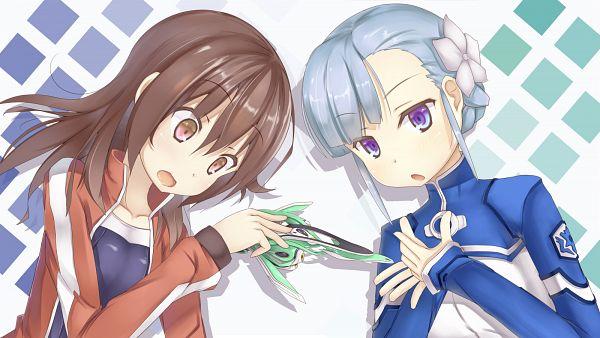 Tags: Anime, Syobonne, Rinne no Lagrange, Kyouno Madoka, Lan (Rinne no Lagrange), Wallpaper