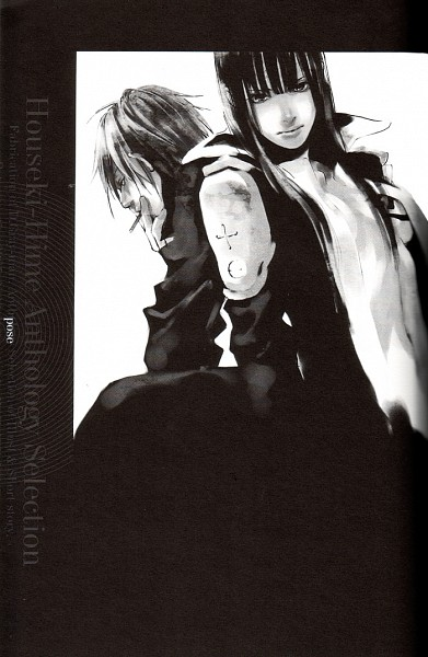Tags: Anime, Houseki-hime, D.Gray-man, Riot of Flowers, Kanda Yuu, Lavi, Mobile Wallpaper, Scan