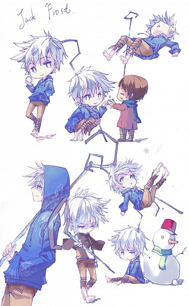 Tags: Anime, Pixiv Id 1606097, Rise of the Guardians, Jack Frost, Jamie Bennett, Snow Rabbit, Mobile Wallpaper, Fanart From Pixiv, Pixiv