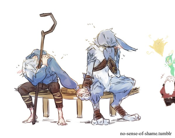 Tags: Anime, Pixiv Id 1217087, Rise of the Guardians, E. Aster Bunnymund, Nicholas St. North, Jack Frost, Sandman (Rotg), Toothiana, Bird Person, Tumblr, Sketch, Fanart
