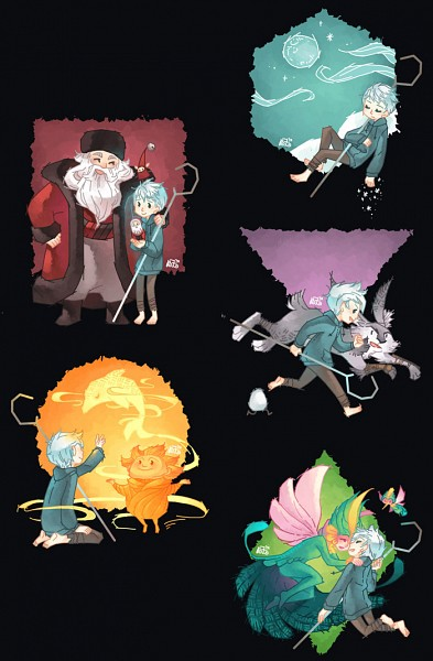 Tags: Anime, Graphitedoll, Rise of the Guardians, E. Aster Bunnymund, Nicholas St. North, Sandman (Rotg), Jack Frost, Toothiana, Bird Person, deviantART, Mobile Wallpaper, Fanart, Fanart From DeviantART