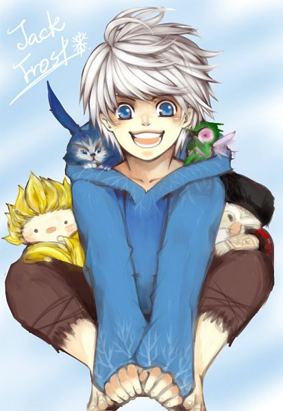 Tags: Anime, Kiwi (Pixiv591621), Rise of the Guardians, Nicholas St. North, Jack Frost, Sandman (Rotg), Toothiana, E. Aster Bunnymund, Bird Person, Blue Hoodie, Fanart, Fanart From Pixiv, Mobile Wallpaper
