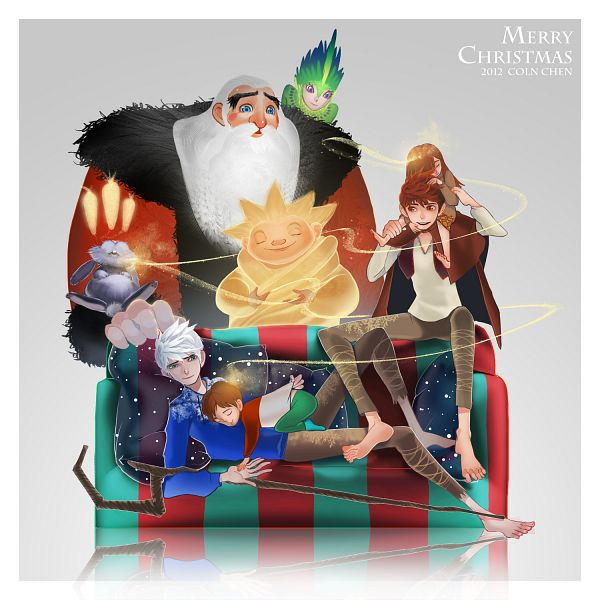 Tags: Anime, Coln, Rise of the Guardians, Nicholas St. North, Jack Frost, Sandman (Rotg), Toothiana, Jack's Sister, E. Aster Bunnymund, Jamie Bennett, Bird Person, Blue Hoodie, deviantART