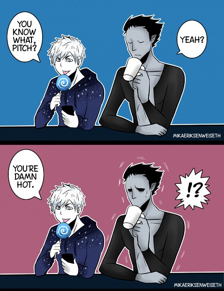 Tags: Anime, Mikaeriksenweiseth, Rise of the Guardians, Pitch Black, Jack Frost, Blue Hoodie, PNG Conversion, Fanart, Tumblr