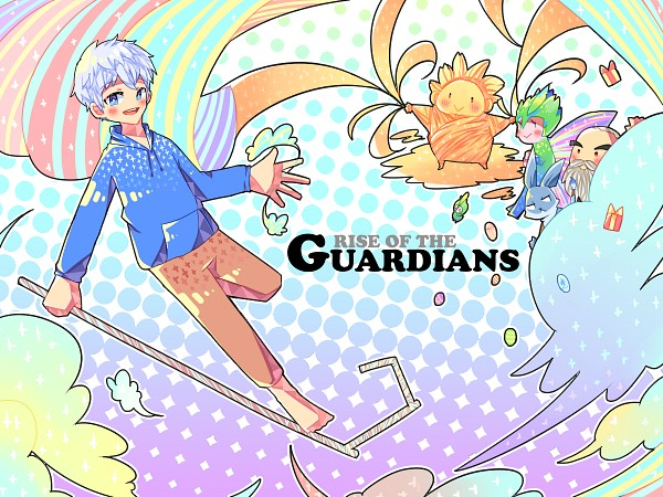 Tags: Anime, Ssantina, Rise of the Guardians, Toothiana, E. Aster Bunnymund, Baby Tooth, Nicholas St. North, Jack Frost, Sandman (Rotg), Blue Hoodie, Easter, Bird Person, Fanart From Pixiv