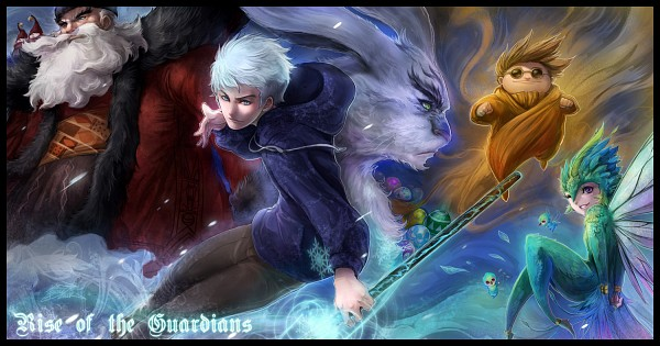 Tags: Anime, Pixiv Id 1139170, Rise of the Guardians, E. Aster Bunnymund, Baby Tooth, Nicholas St. North, Sandman (Rotg), Jack Frost, Toothiana, Blue Hoodie, Bird Person, Dreamworks, Facebook Cover