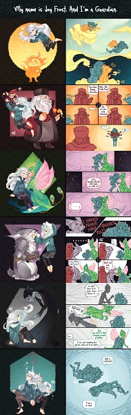 Tags: Anime, Graphitedoll, Rise of the Guardians, Nicholas St. North, E. Aster Bunnymund, Sandman (Rotg), Toothiana, Jack Frost, Pitch Black, Bird Person, Dreamworks, deviantART, Comic