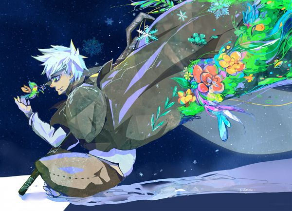Tags: Anime, Kazuno (Pixiv1616358), Rise of the Guardians, Jack Frost, Baby Tooth, Pixiv, Fanart, Dreamworks, Fanart From Pixiv