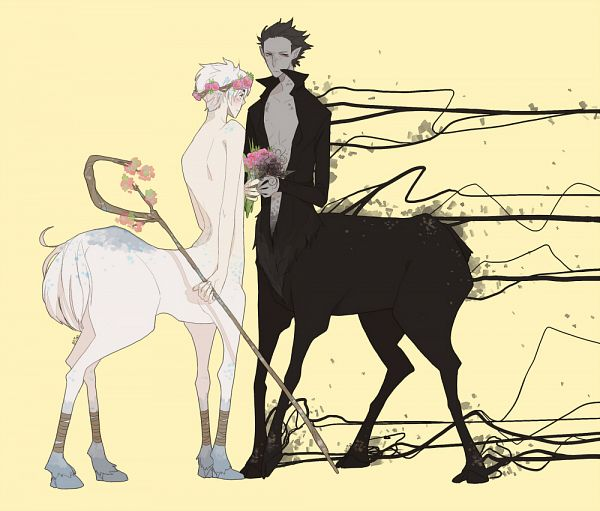 Tags: Anime, Ionahi, Rise of the Guardians, Pitch Black, Jack Frost, Centaur, Dreamworks, Fanart, Fanart From Pixiv, Pixiv
