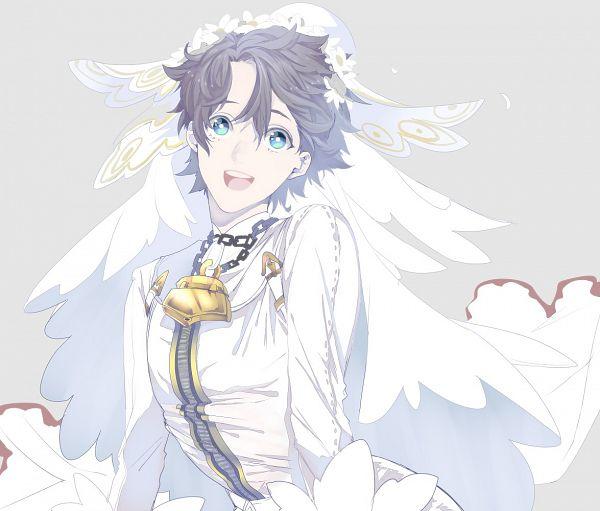 Tags: Anime, Enmiria, Fate/Grand Order, Ritsuka Fujimaru, Saber Bride (Cosplay), Fanart, Fanart From Pixiv, Pixiv