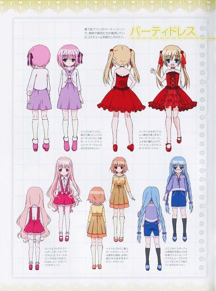 Tags: Anime, project No.9, Ro-kyu-bu!, Hakamada Hinata, Minato Tomoka, Nagatsuka Saki, Kashii Airi, Misawa Maho, Scan, Official Character Information, Official Art, Character Sheet