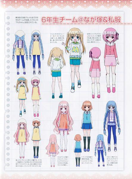 Tags: Anime, project No.9, Ro-kyu-bu!, Kashii Airi, Misawa Maho, Hakamada Hinata, Minato Tomoka, Nagatsuka Saki, Official Art, Character Sheet, Scan, Official Character Information