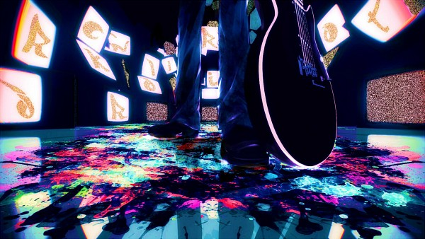 Tags: Anime, Meola, VOCALOID, Megurine Luka, Rock'n'roll Riot (song), Monitor, Facebook Cover, Wallpaper, Yuyoyuppe