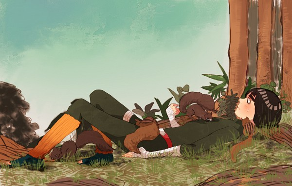 Tags: Anime, Chiri, NARUTO, Rock Lee, Squirrel