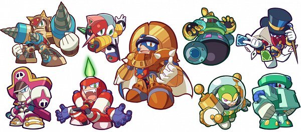 Tags: Anime, Pixiv Id 36216, Rockman, Magic Man (Rockman), King (Rockman), Pirate Man, Astro Man, Ground Man, Tengu Man, Cold Man, Dynamo Man, Burnerman, Drill